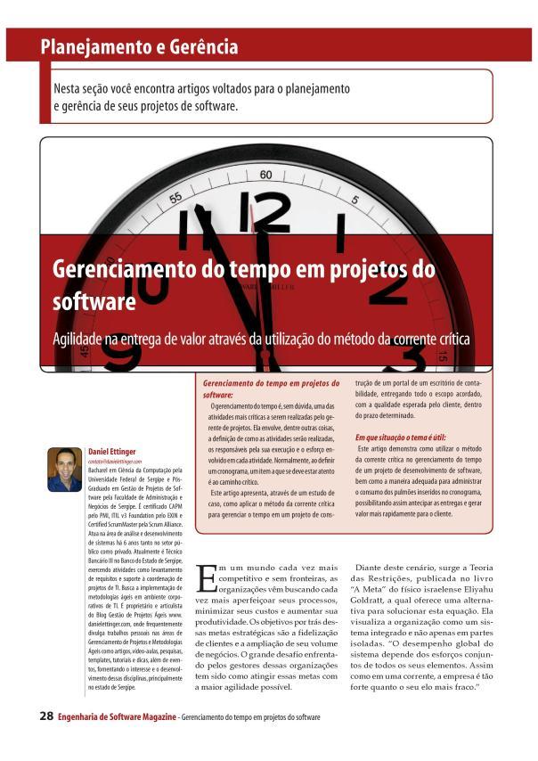 Gerenciamento do Tempo em Projetos de Software